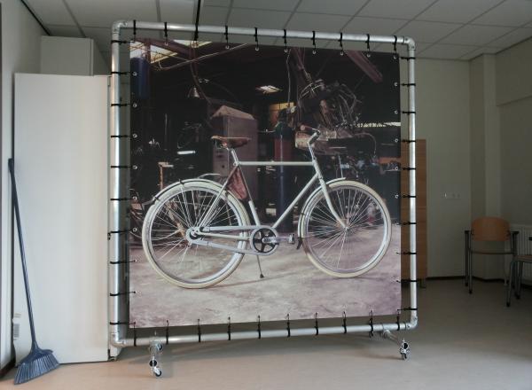 Roomdivider of kamerscherm met foto